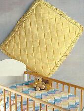 Baby Entrelac Blanket Knitting Pattern Pram and Cot Quilt DK   511