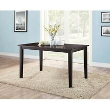 Mainstays Dining Table 585L X 355W 30H Rich Espresso Finish Seats 6