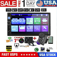 7 Double 7010B 2 DIN Car GPS Radio MP5 Player Touch Screen bluetooth+Rear Camera