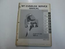 1971 Evinrude STARFLITE 125S 125 HP Model 125183 Service Manual STAINED WATER***