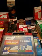 NEW in Packaging Home First Aid Kit Pain Supplies Lot ~ Misc. Heating Pad, etc.