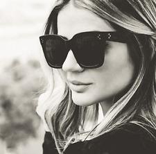 Square Sunglasses Kim Kardashian Celine Style Polarized Oversized Black 2017