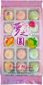Japanese Mochi Fruit Assorted (Strawberry, Orange, Melon Flavor) 15PC