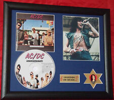 AC/DC Dirty Deeds...Genuine CD, Autograph & Plectrum Presentation Bon Scott