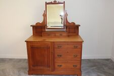 Antique Dressing Table With Mirror and Drawers
