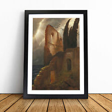 More details for ruin by the sea by arnold bocklin wall art framed print picture