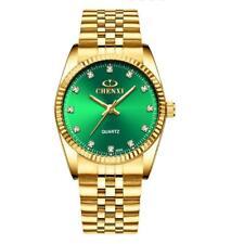 CHENXI Golden Watches Mens Stainless Steel Case Brand Design Quartz Wrist Watch