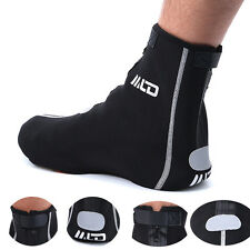 Waterproof Bike Case Cycling Shoe Cover Windproof Warmer Overshoes Black