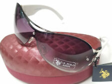US POLO ASSN Sunglasses White New w/ Tags & Hard Case Womens Unisex WT2 83078
