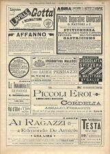 Stampa antica pubblicità IPERBIOTINA MALESCI e altro 1895 Old antique print