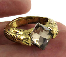 Harry Potter Deathly Hallows Horcrux Ring Gold Plated Crystal Ring Size 9