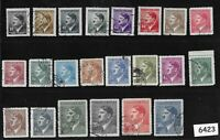 Used Stamp set / 1942 Third Reich era / Adolph Hitler / WWII Germany Occupation
