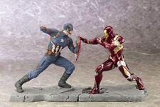 Kotobukiya Captain America Civil War ARTFX+  Iron Man Mark 46 + Captain America