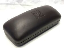 Anne Klein Small Brown Hard Side Clamshell Protective Sunglasses Eyeglasses Case
