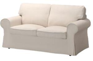 Ikea Ektorp Loveseat Slipcover Lofallet Beige Two Seat Sofa Cover 703.217.00 NIB