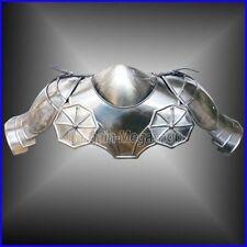 Gothic Steel Shoulders & Neck Armour - LARP / Re-enactment Costume