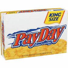 Pay Day KING SIZE Candy Bars 3.4 oz EA peanut caramel chewy salty sweet treat