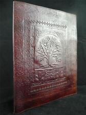 A4 Luxury Handmade Leather Folder Binder Portfolio - Pagan Wicca Tree of Life
