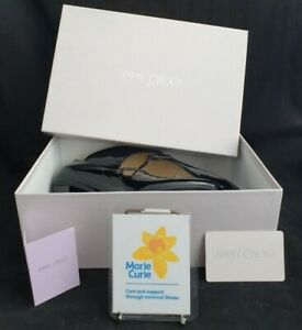 (LYM) Jimmy Choo Black Patent Leather shoes size 6 - Boxed