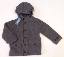 NWT Gymboree Holiday Celebrations Size S 5-6 Gray Hooded Wool Blend Coat