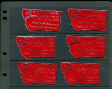 6 Vintage 1956 Great Falls Montana Hardware Assn Convention Poster Stamps L975
