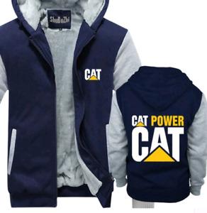 Caterpillar Power Hoodie Zip up Jacket Coat Winter Warm Hoodies Sweatshirt