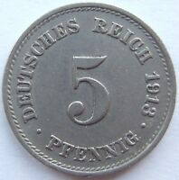 Top! 5 Pfennig 1913 G En Extremely fine