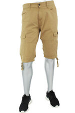 New Men's Jordan Craig Solid Khaki Cargo Shorts Size 44 Brand New!