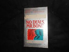 No Deals, Mr. Bond by John E. Gardner (1991, Paperback) James Bond, GD
