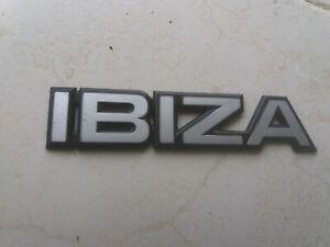 Seat Ibiza Mk1 Phase 1 Monogram Badge Rear Tailgate