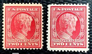 1909 US Stamp SC#367, 369 Bluish Paper Mint /no gum