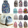 Womens Girls Floral Backpack School Book Rucksack Satchel Travel Shoulder Bags