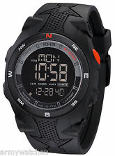 KHS Tactical Watches Military LED Digital Compass Alarm Silicone Wrist Watch
