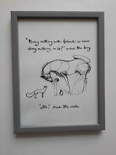 CHARLIE MACKESY FRAMED BOOK EXTRACT.  'THE BOY ,THE MOLE, THE FOX AND THE HORSE