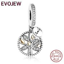 Gold Family Tree Charm 100% 925 Sterling Silver Pandora