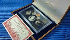 1983 Singapore Proof Coin Set Uncirculated ($1 Stylised Lion Silver Proof Coin)