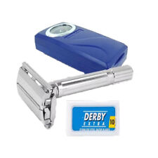 Shaving Factory Butterfly Opening Safety Razor + 10 Derby Blades / SAME DAY POST