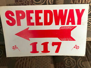 Vintage 1970's Speedway 117 Auto Racing Advertising Sign_Southbay Speedway_Chula