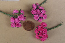 1:12 Scale 3 Bunches (30 Flowers) Of Red Paper Roses Tumdee Dolls House A