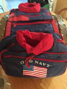 Old Navy Dog Backpack Harness Flag Patriotic Hiking Insulated Canine Size M