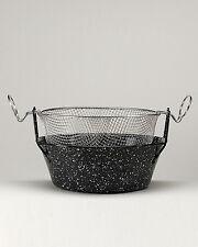 Traditional Enamel Deep Fryer Pan with Aluminum Frying Basket N.26