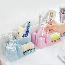 Home Bathroom Toothbrush Wall Mount Holder Rack Sucker Suction Cups Organizer