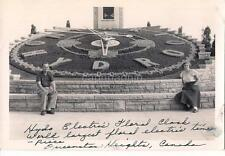 Hydro Electric Powered Floral Clock QUEENSTON CANADA Vintage 1940s Photo