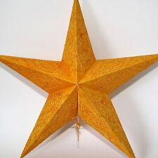 Stern Papierstern Weihnachtsstern Leuchtstern Lampe Papier Faltstern Gelb 60