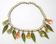 Early Coro Calla Lilly Necklace