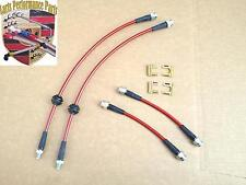 Porsche 951 944Na 944S S2 968 944 Turbo Ss Braided Teflon Brake Lines 4 Pcs Red