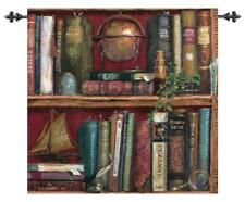 Top Shelf ~ Books on Shelf Tapestry Wall Hanging w/o Rods