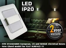 LUNEX SAPPHIRE DESIGN 1.0W LED RECESSED WALL LIGHT - WALLS, CORRIDORS - 7 COLORS