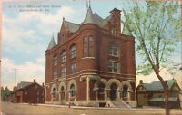 1910 Postcard: 'US Post Office & Court House - Martinsburg, West Virginia WV'