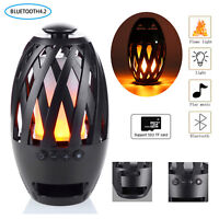 Wireless Bluetooth Stereo Speakers Portable Music Player with LED Flame Lamp